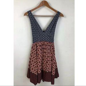 Lulu's Lace Up Cut Out Back Mini Dress ~Size S~